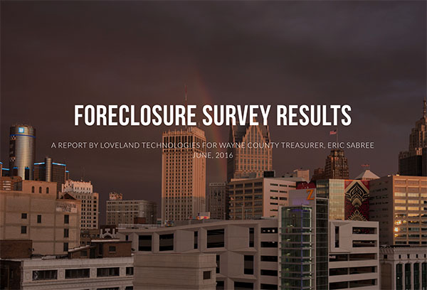 Foreclosure survey